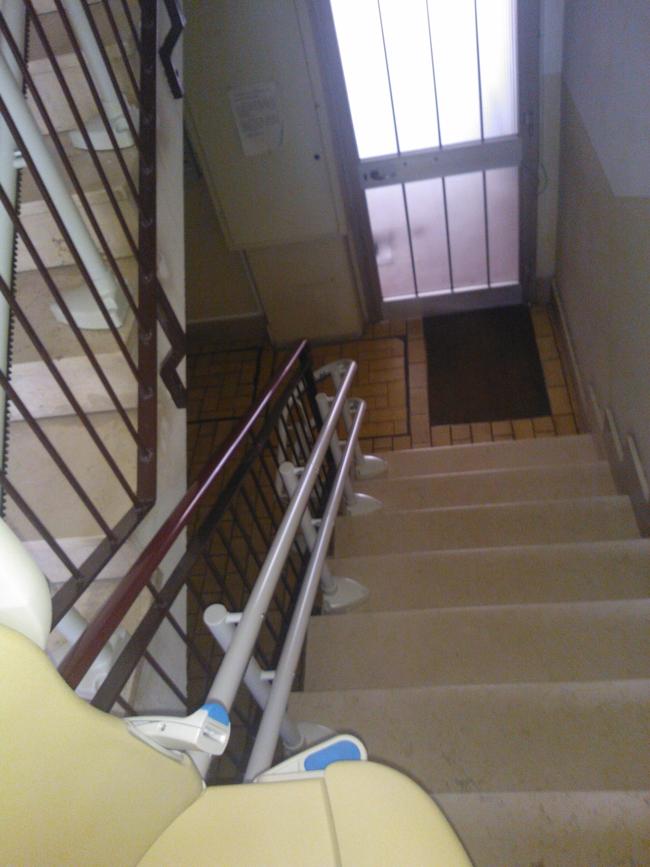 Macchina all'arrivo a filo dell'ultima alzata - Boccato ascensori srl